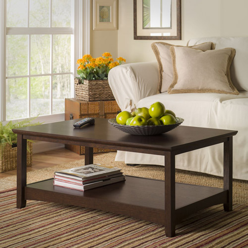 Bush Furniture Buena Vista Coffee Table in Madison Cherry