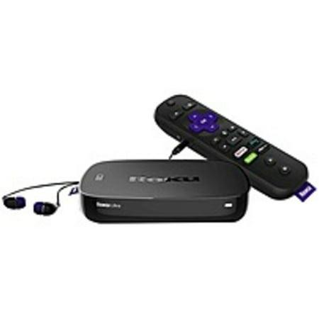 Refurbished Roku Ultra 4660R Network Audio/Video Player - Wireless LAN - Black - microSD Supported - DTS Digital Surround, DTS, Dolby Digital - Netflix, Hulu, Amazon Instant Video, WatchESPN, CNBC, Apple Black Audio Video Player