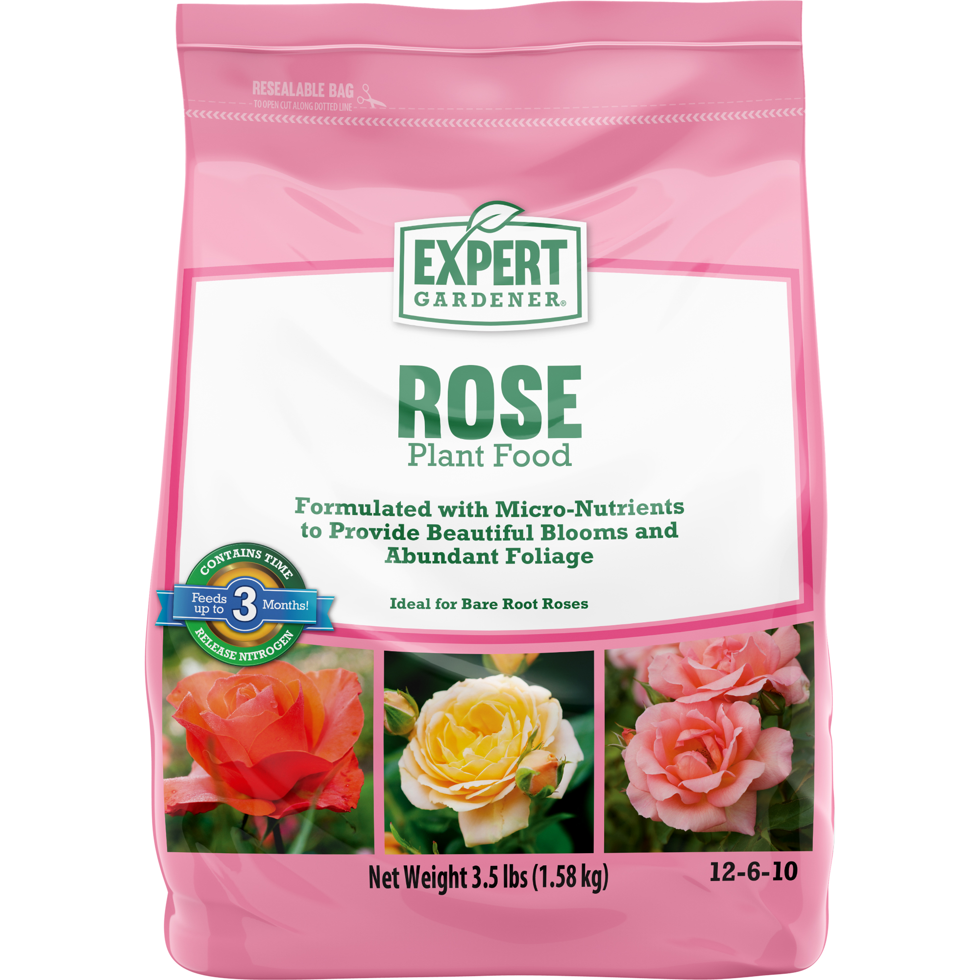 Expert Gardener Rose Plant Food 12-6-10, 3.5 lbs