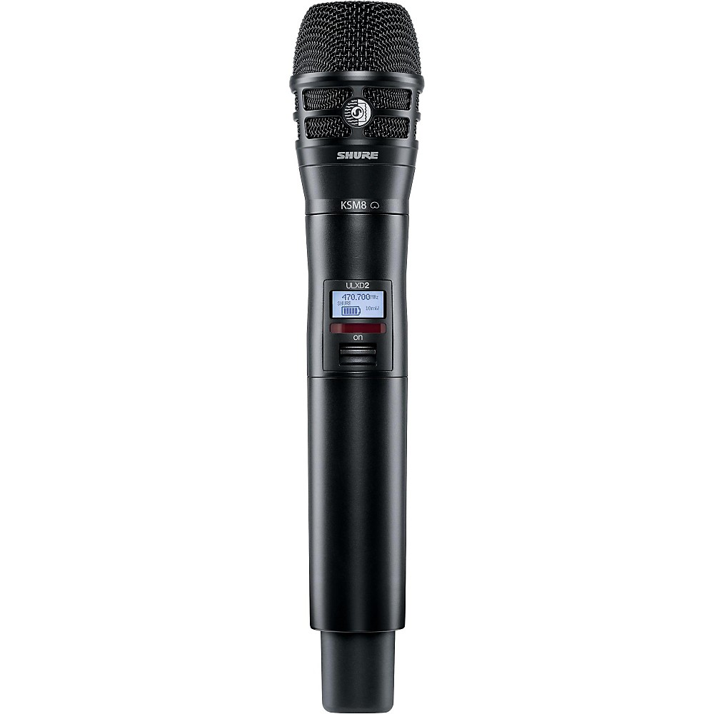 Shure ULXD2 K8B Handheld Transmitter with KSM8 Capsule in Black Band G50 by Shure