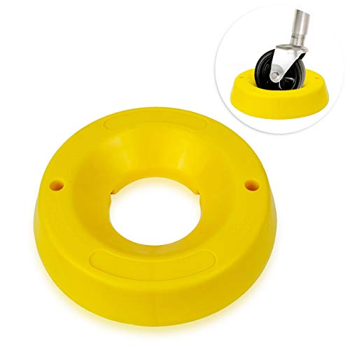 Zone Tech Trailer Jack Wheel Dock - Highly Visible Travel Doughnut Chock for Trailer Tongue Jack -