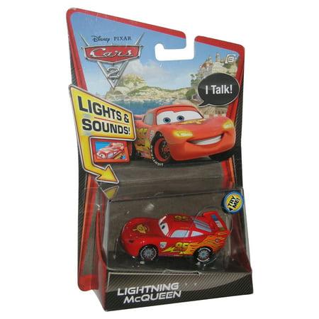 Disney Pixar Cars 2 Lights Sounds Lightning Mcqueen Talking Cast Toy