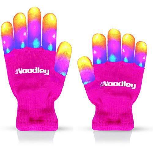 3 Pack LED Gloves Light up Gloves Toys for Boys Christmas Xmas Birthday