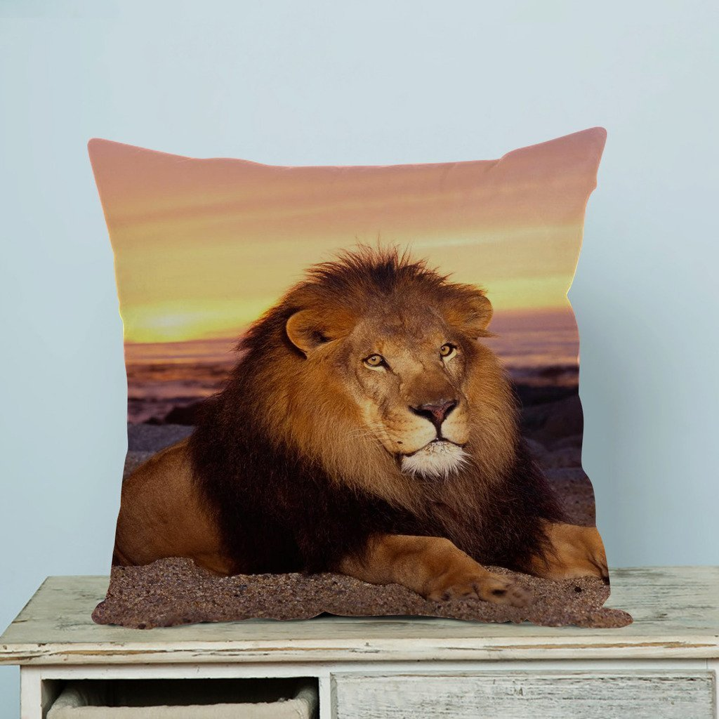 GCKG Lion at the Sunset Pillow Case Pillow Cover Pillow Protector Two Sides 20x30 Inches - image 2 de 2