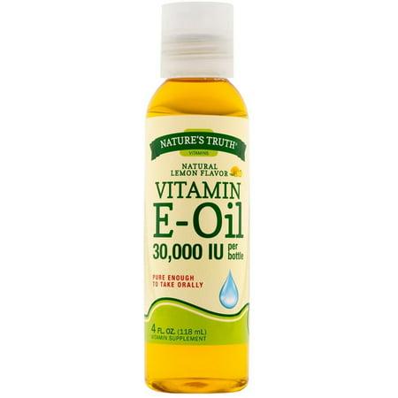 6 Pack - Nature's Truth Vitamin E Oil Liquid, Lemon Flavor 4 (The Best E Liquid Flavors)