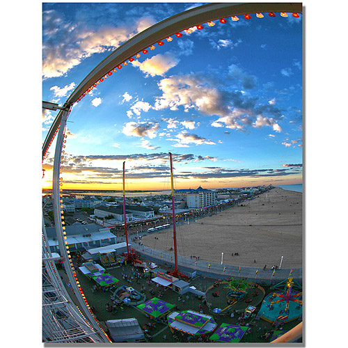 "Trademark Art ""Ocean City"" Canvas Wall Art by MCat"