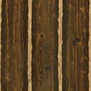 Brewster TLL41382 Log Cabin Brown Wood Paneling Wallpaper