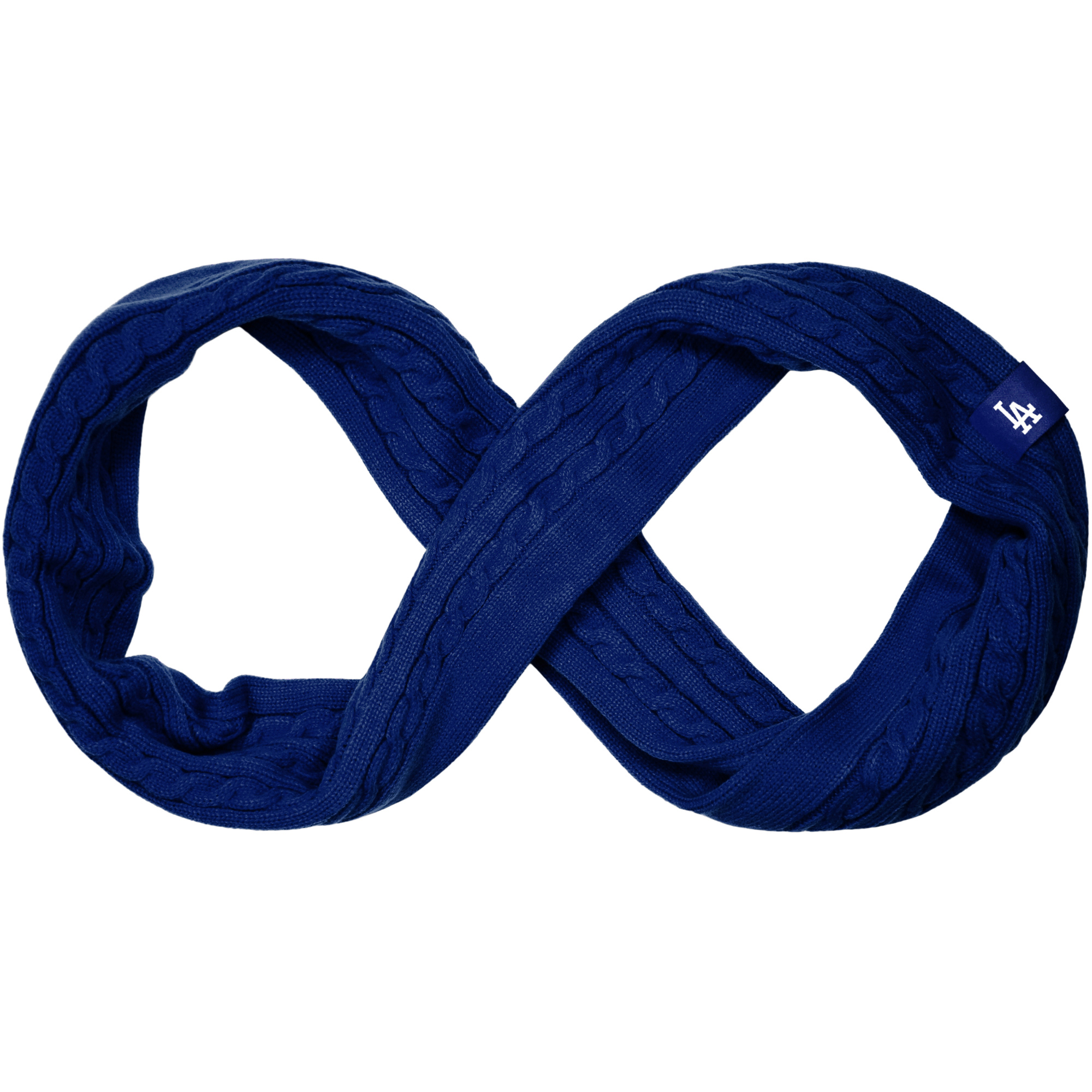 Los Angeles Dodgers Women's Cable Knit Infinity Scarf - Blue - No Size