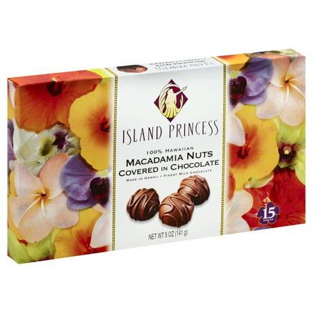 Island Princess Macadamia Nuts Milk Chocolate, 5 Oz.