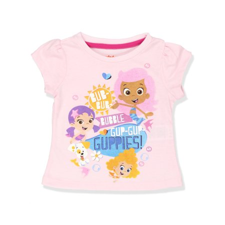 Bubble Guppies Girls Short Sleeve Tee (Toddler) - Gil Bubble Guppies