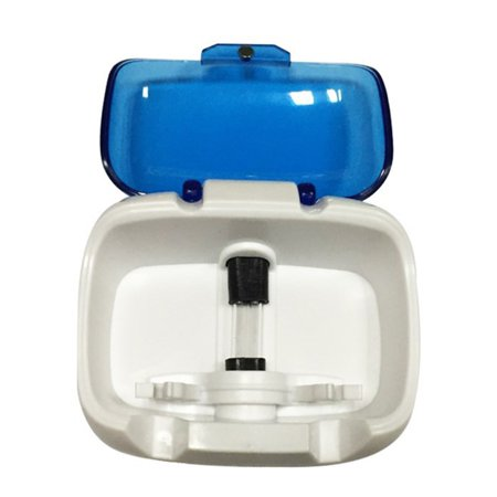 Toothbrush Holder Sterilizer For 2 Teeth Brushes UV Lamp Disinfection - image 3 de 6