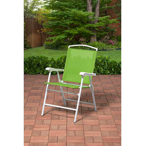 Mainstays Outdoor Folding Sling Chair, Green