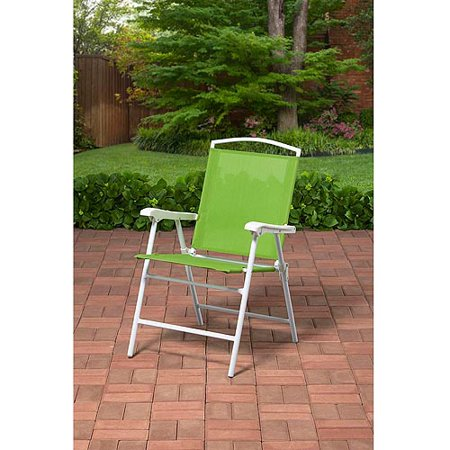 Mainstays Outdoor Folding Sling Chair Green