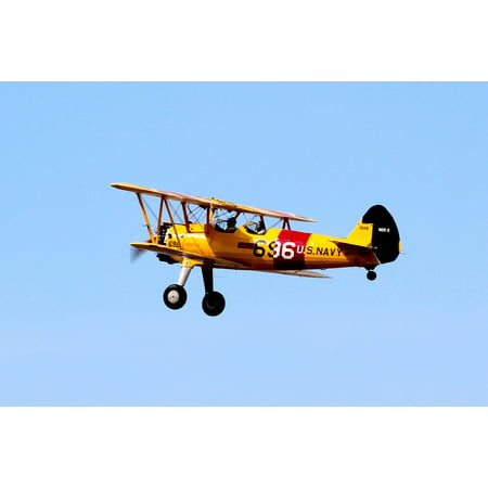 - LAMINATED POSTER Airplane Yellow Fly Biplane Pilot Sky Oldtimer Poster Print 24 x 36