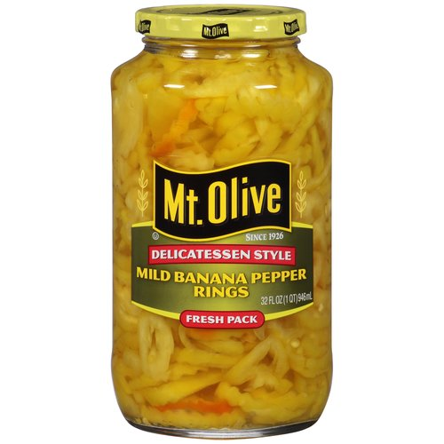 Mt. Olive Mild Banana Pepper Rings, 32 fl oz