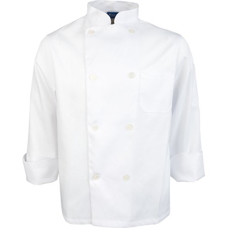 - Unisex White Value Long Sleeve Chef Coat