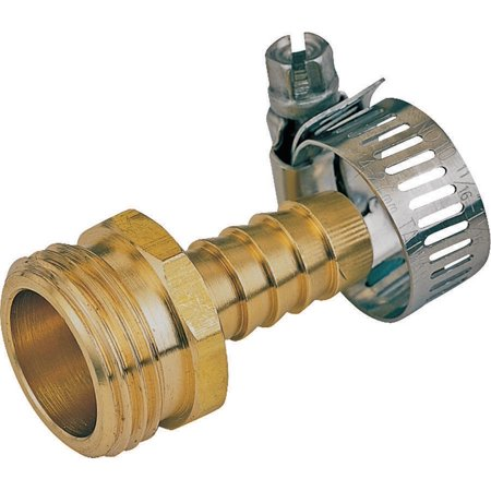 Landscapers Select Hose Coupling With Clamp, 1/2 In, Male, (Fire Hose Couplings)