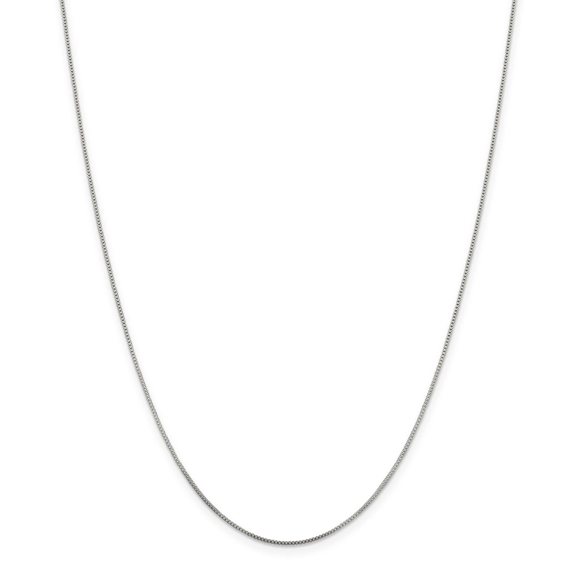 925 Sterling Silver .8mm Link Box Chain Necklace 24 Inch Pendant Charm Locket Fine Jewelry Gifts For Women For Her - image 3 of 3