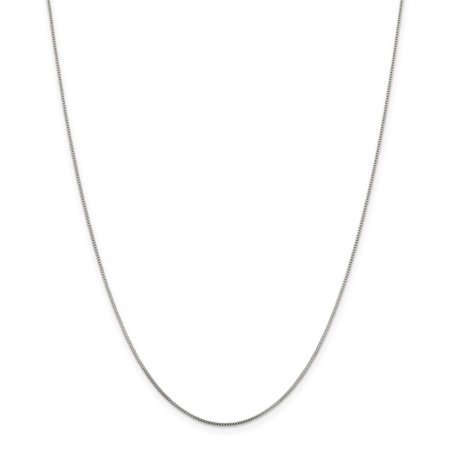 925 Sterling Silver .8mm Link Box Chain Necklace 16 Inch Pendant Charm Locket Gifts For Women For Her
