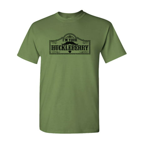 I'M YOUR HUCKLEBERRY - doc holliday western - Mens Cotton T-Shirt (Western Show Shirts Men)