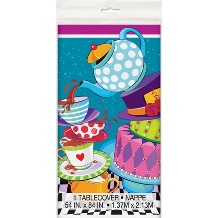 Plastic Alice In Wonderland Tea Party Table Cover  84  X 54