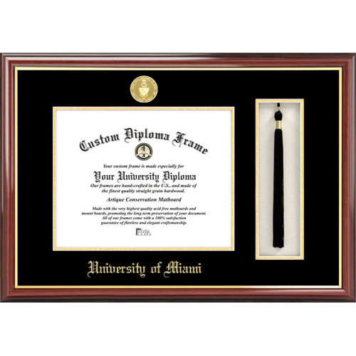 "University of Miami 8.5"" x 11"" Tassel Box and Diploma Frame"