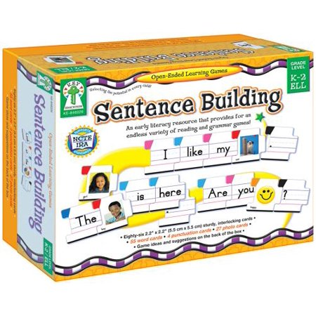 Sentence Building: An Early Literacy Resource That Provides for an Endless Variety of Reading and Grammar Games! (Hardcover) - Grammar Review Games