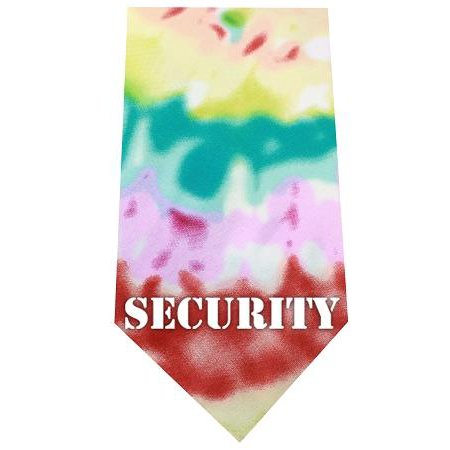 Security Screen Print Bandana Tie Dye