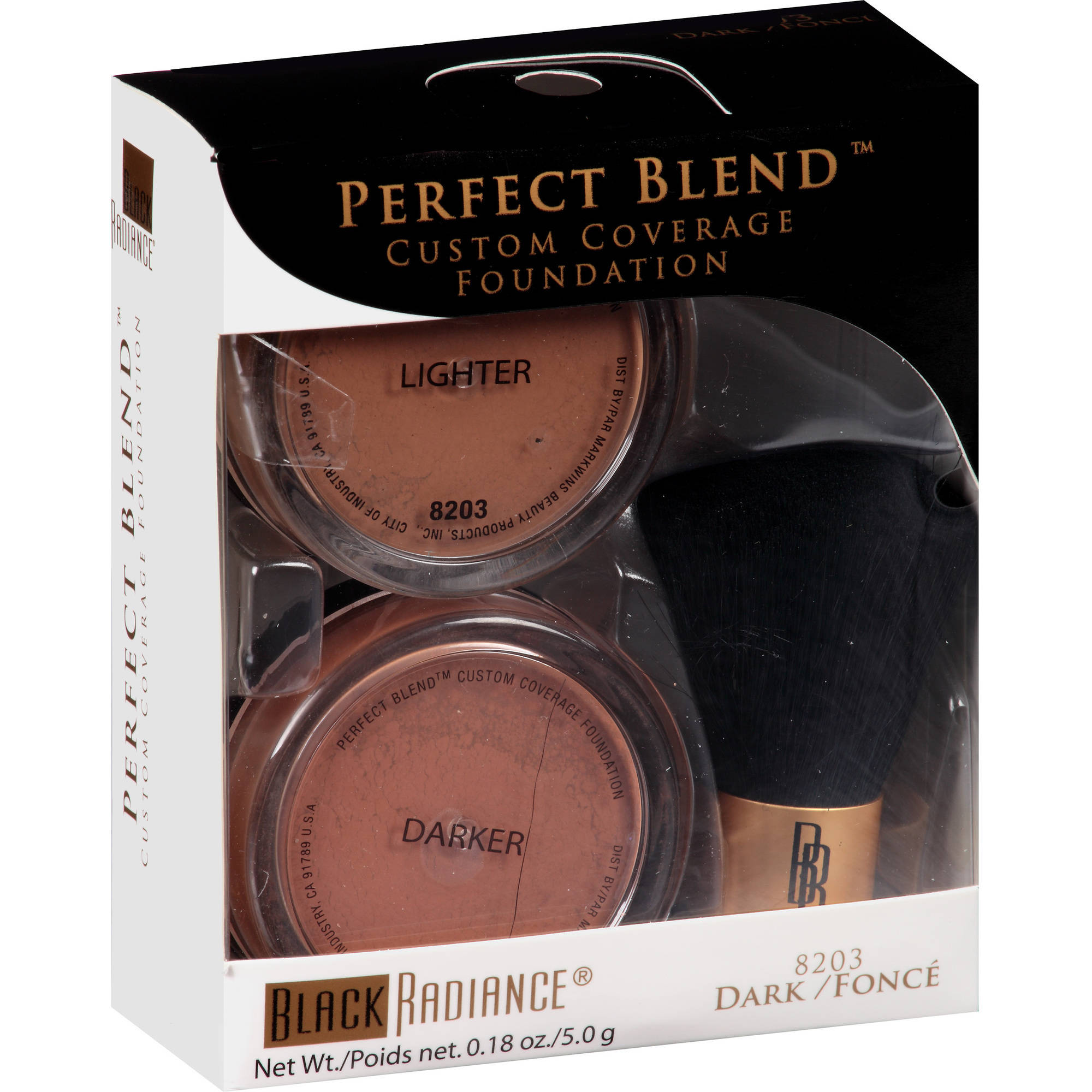 Black Radiance Perfect Blend Mineral Foundation, 8203 Dark, 0.18 oz