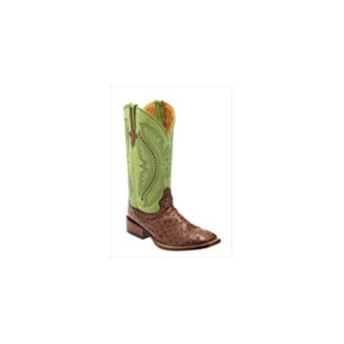 Ferrini 1019307085D Mens Full Quill Ostrich Square-Toe Kango Boots 8. 5D by