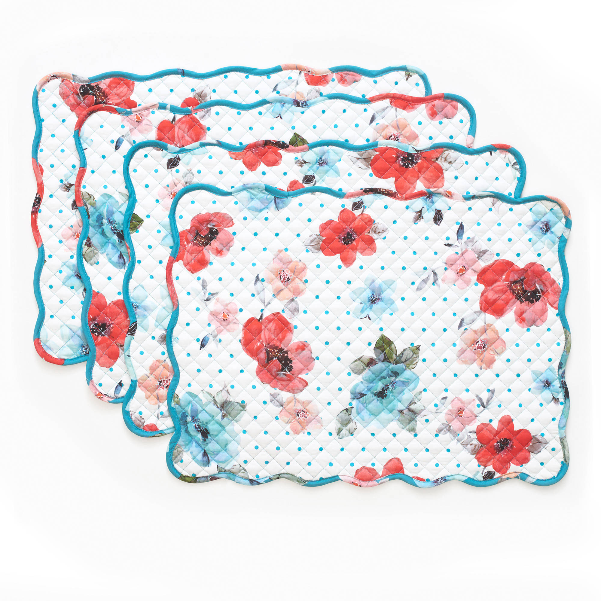 The Pioneer Woman Vintage Bloom Reversible Placemat, 4pk