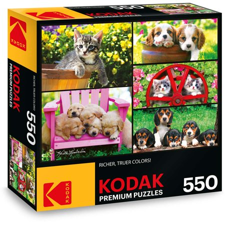 Golden Retriever Puppy Jigsaw Puzzle (Kodak 550 Piece Premium Jigsaw Puzzle of Kittens and Puppies )