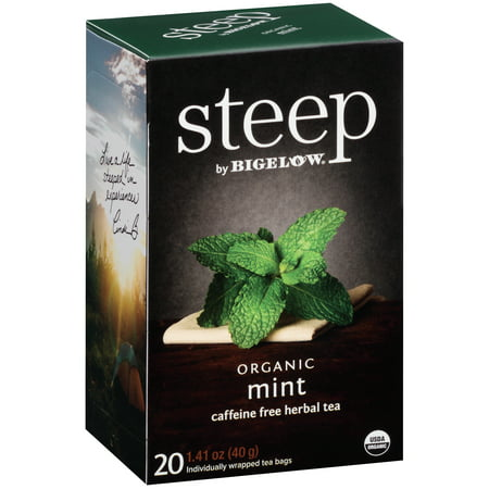 Rosemary Mint Bath Tea ((3 Pack) Steep, Organic Mint, Tea Bags, 20 Ct)