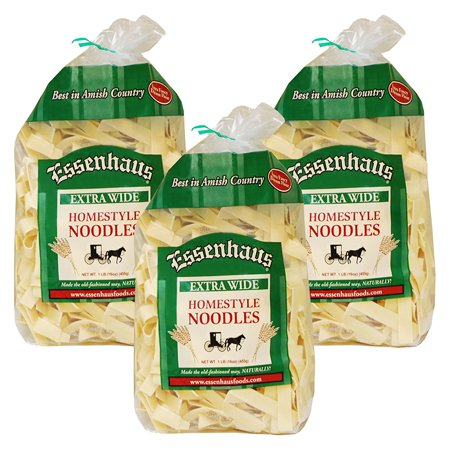 (3 Pack) Essenhaus Extra Wide Homestyle Noodles, 1