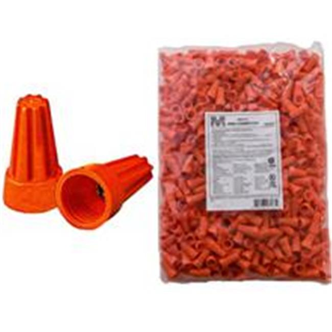 Morris Products Screw-On Wire P3 Connectors in Orange (Bagged 500 Bulk Pack)