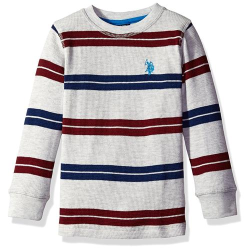U.S Polo Assn Boys Long Sleeve Raglan Thermal Shirt