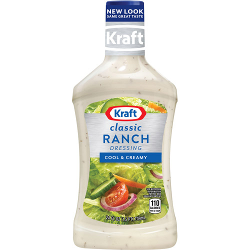 Kraft Salad Dressing: Dressing & Dip Ranch, 24 Fl Oz