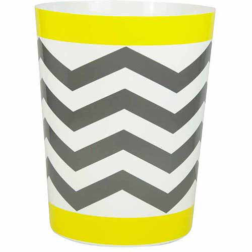 Mainstays Chevron Wastebasket, Yellow