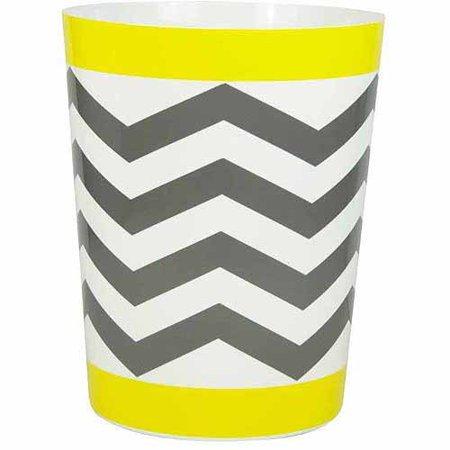 Mainstays Chevron Wastebasket, Yellow