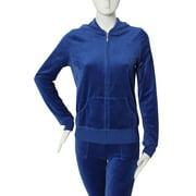 NEW Womens Royal Velour Pants Hoodie Jacket Suit Set Jumpsuit Romper (S)