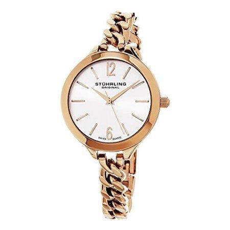 Women's 624M.03 Vogue Swiss Quartz Rose Tone Link Bracelet Watch (Women Stuhrling Watches)
