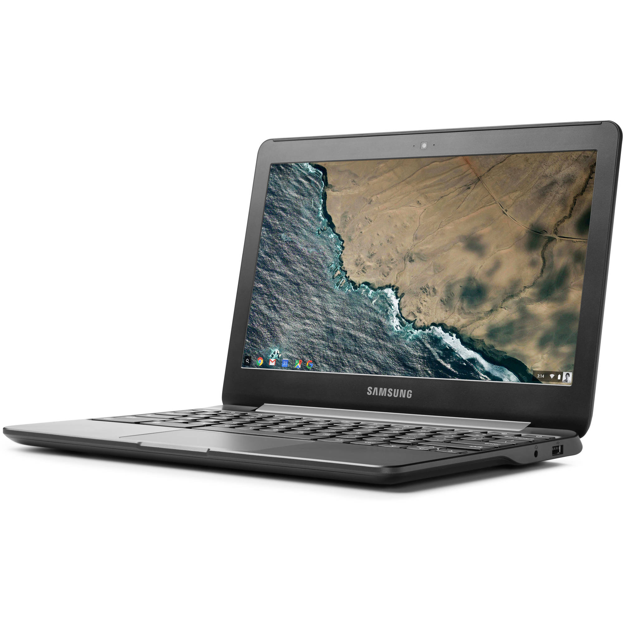 "Samsung Metallic Black 11.6"" XE500C13-K01US Chromebook 3 PC with Intel Celeron N3050 Processor, 2GB Memory, 16GB eMMC Drive and Chrome OS"