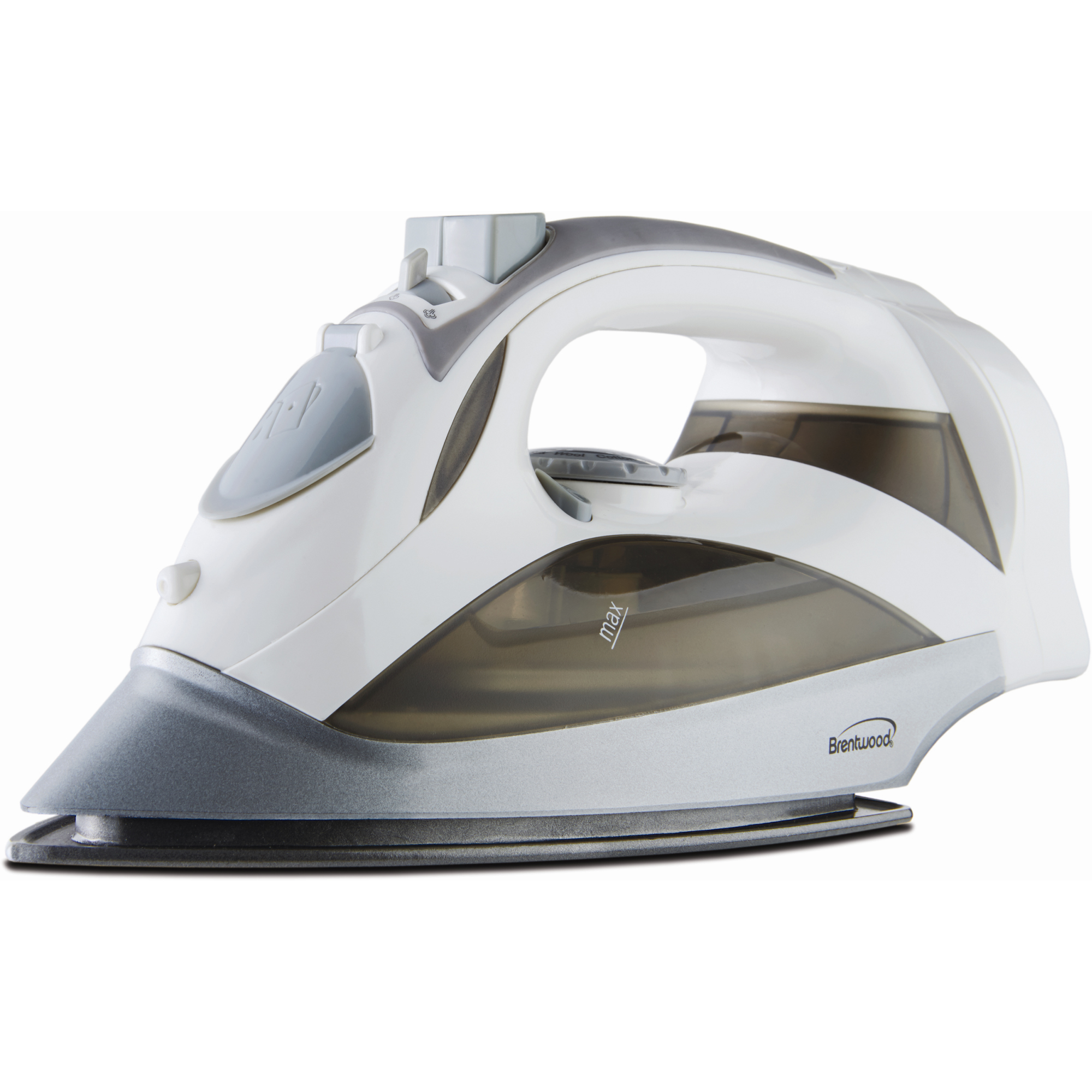 Brentwood [mpi-59w] Steam Iron With Retractable Cord [white] - 1200 W - White (mpi59w)