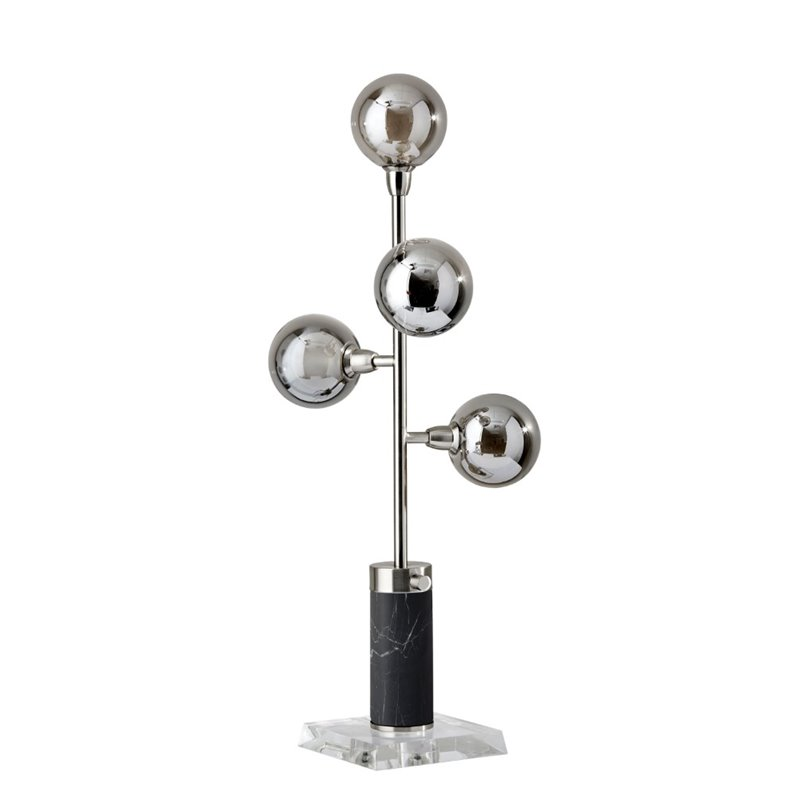 Adesso Home Calder Metal LED Table Lamp in Brushed Steel