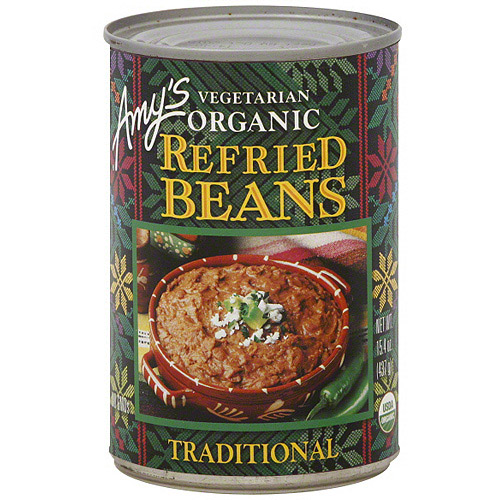 Amy's Vegetarian Organic Traditional Refried Beans, 15.4 oz (Pack of 12)