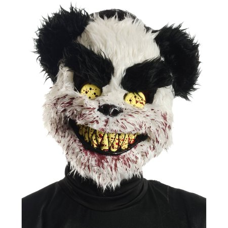 Charles Black and White Mask Adult Halloween Accessory - Halloween Mask White And Black
