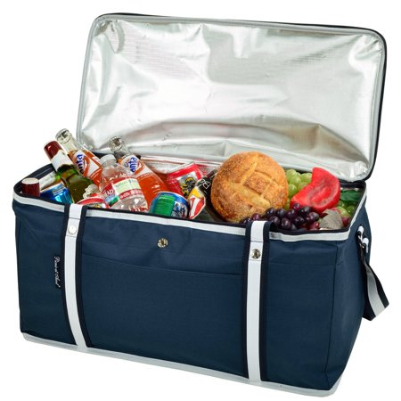 Picnic at Ascot Ultimate Day Cooler- Combines Best Qualities of Hard & Soft Collapsible Coolers - Navy