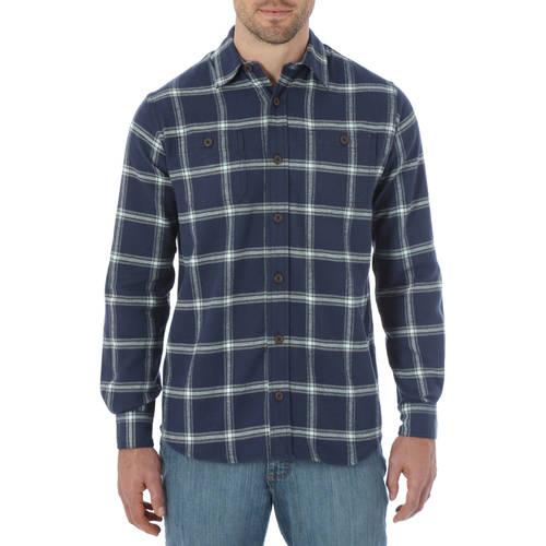 Wrangler Mens Long Sleeve Flannel Shirt
