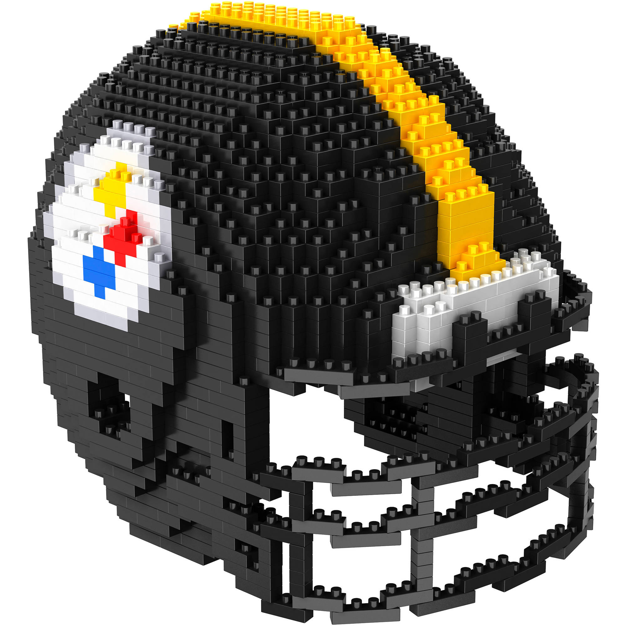 Forever Collectibles 3D BRXLZ Mini Helmet, Pittsburgh Steelers