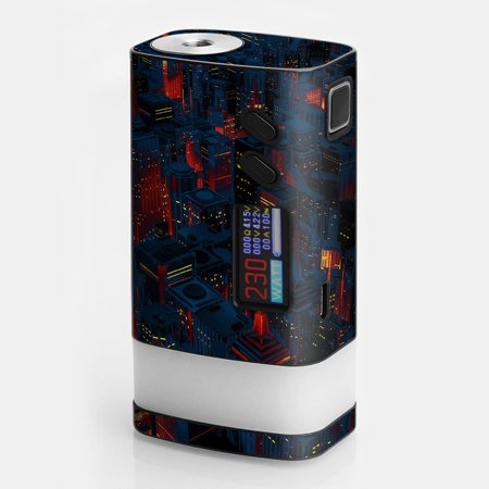 Skins Decals For Sigelei Fuchai Glo Vape / City Glow At Night Skyline View - Glow City Com